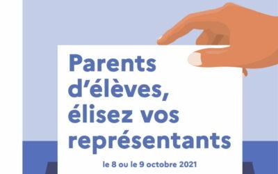 ELECTIONS REPRÉSENTANTS PARENTS D'ÉLÈVES 2021 : INFORMATIONS UTILES & CALENDRIER